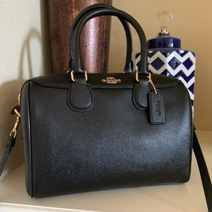 NWT🖤Coach Black Leather Mini Bennett Satchel